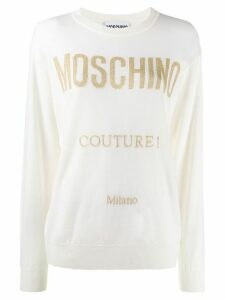 Moschino glitter detail jumper - White