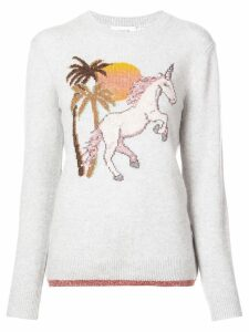 Coach unicorn intarsia cashmere jumper - Grey