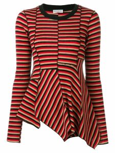 Sonia Rykiel asymmetric striped jumper - Black