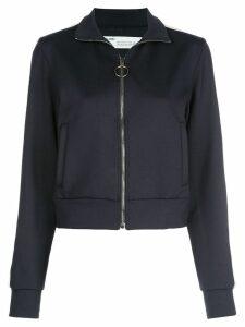 Off-White zip-up cropped jacket - Black