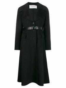 Valentino cashmere single-breasted coat - Black