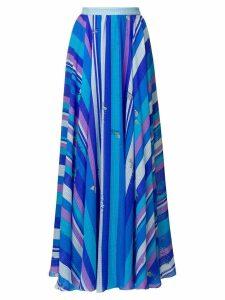Emilio Pucci printed maxi skirt - Blue
