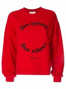 Être Cécile Bon Appetit sweatshirt - Red