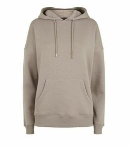 Light Brown Long Sleeve Jersey Hoodie New Look