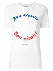 Être Cécile Bon Appetit T-shirt - White