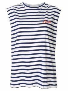 Être Cécile striped tank top - White