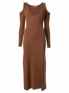 Manning Cartell cold-shoulder dress - Brown