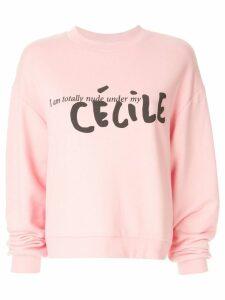 Être Cécile contrast logo sweatshirt - Pink