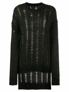Uma Wang oversized distressed jumper - Brown