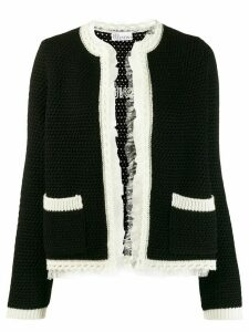 Red Valentino open front cardigan - Black