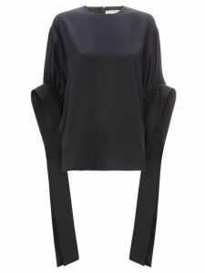 JW Anderson ruched sleeve top - Blue