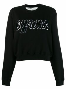 Off-White textured logo jumper - Black