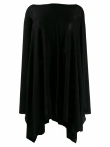 Rick Owens draped knitted top - Black