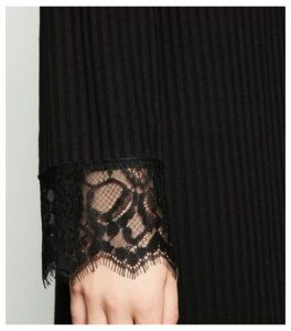 Black Longline Ribbed Cardigan New Look