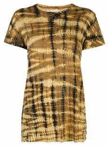Proenza Schouler Tie Dye Short Sleeve T-Shirt - Yellow