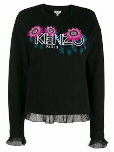 Kenzo floral logo jumper - Black