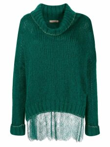 Twin-Set knit roll-neck jumper - Green
