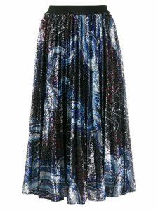 Pinko sequinned pleated skirt - Blue