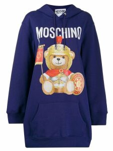 Moschino logo teddy print hoodie - Purple