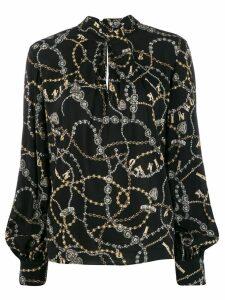 Pinko chain print blouse - Black