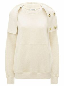 JW Anderson fold-over neck hoodie - Yellow