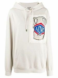 Acne Studios Grant Levy Lucero sketch hooded sweater - Grey