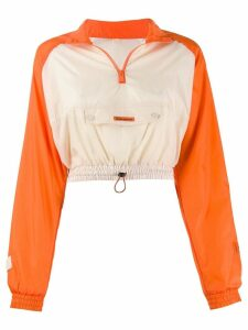 Heron Preston cropped windbreaker top - ORANGE