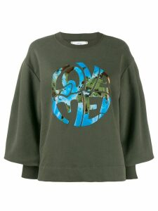 Alberta Ferretti Love Me! graphic sweatshirt - Green