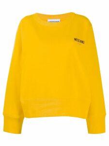 Moschino logo embroidered sweatshirt - Yellow