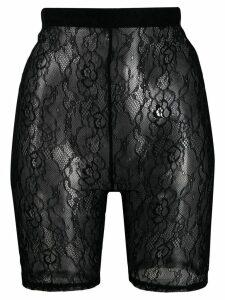 Styland lace cycling shorts - Black