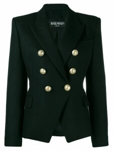 Balmain double-breasted structured blazer - Black