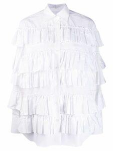 Valentino pleated ruffle shirt - White