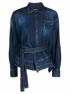 Dsquared2 asymmetric denim shirt - Blue