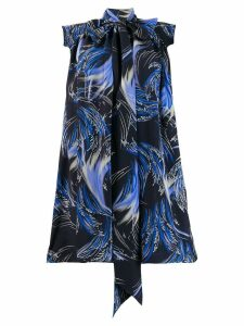 Givenchy knot detail printed dress - Blue