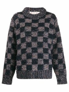 Marni checker print jumper - Blue