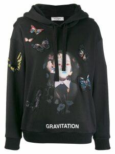 Valentino x Izumi Miyazaki Gravitation butterfly print hoodie - Black
