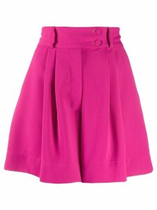 Styland high-waisted pleated shorts - PINK