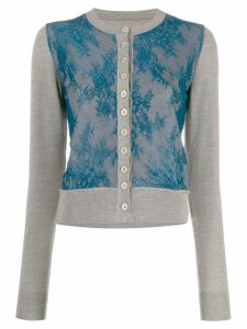 Mm6 Maison Margiela lace front cardigan - Grey
