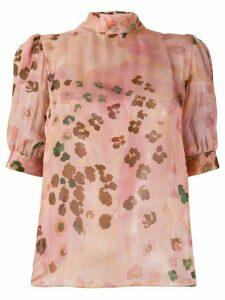 Blumarine printed bow detail blouse - PINK