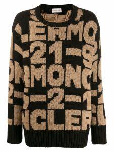Moncler intarsia-knit jumper - NEUTRALS