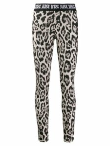 Just Cavalli leopard print leggings - Brown