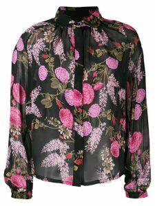 Giambattista Valli floral blouse - Black