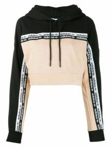 adidas logo tape hoodie - NEUTRALS