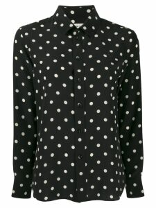 Saint Laurent dotted buttoned shirt - Black