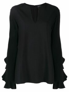 Giambattista Valli ruffle blouse - Black