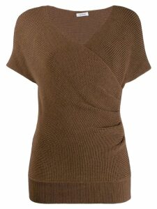 P.A.R.O.S.H. wrap-style knitted top - Brown