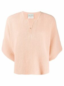 Forte Forte V-neck knit jumper - PINK