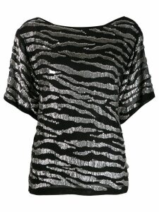 P.A.R.O.S.H. sequin-trim top - Black