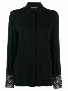 Alberta Ferretti embellished cuff shirt - Black