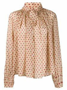 Forte Forte polka dot print shirt - NEUTRALS